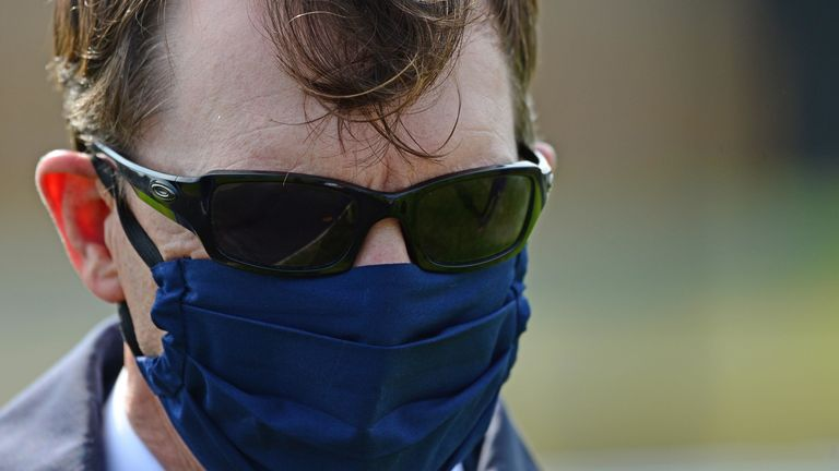 Trainer Aidan O'Brien at Curragh Racecourse.