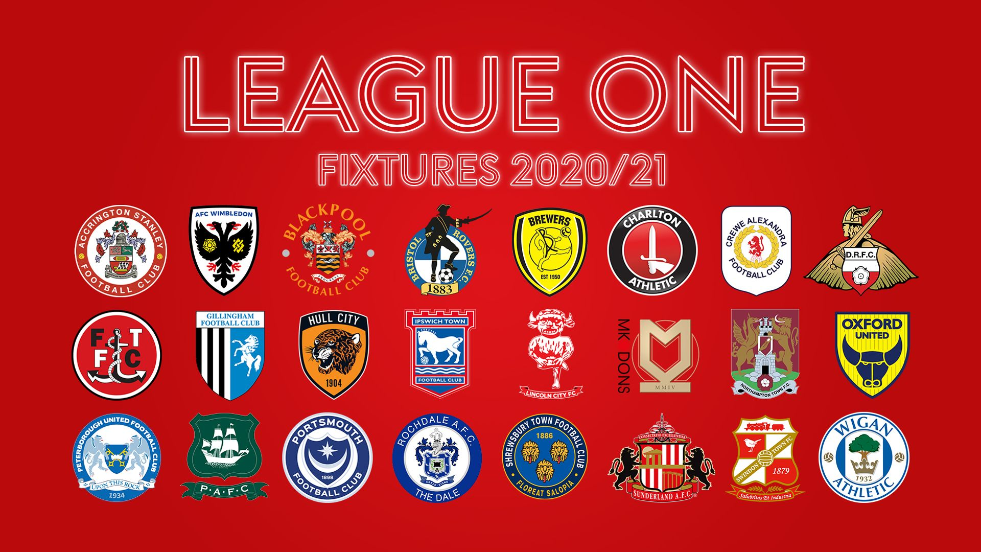 League One fixtures 2020/21