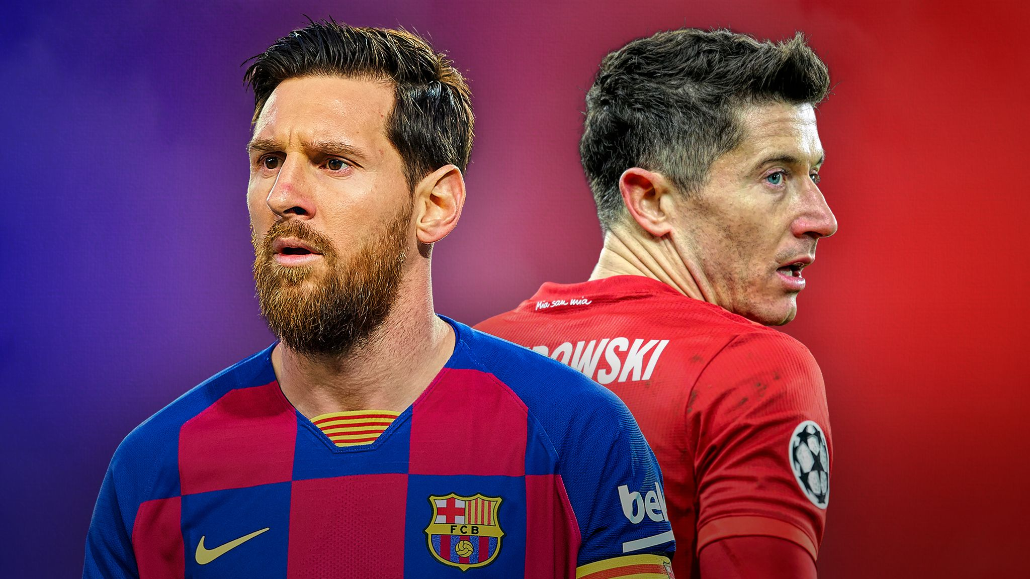 Barcelona V Bayern Munich Lionel Messi And Robert Lewandowski Face Off In Mouth Watering Champions League Quarter Final Football News Sky Sports