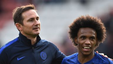 fifa live scores - Willian: Frank Lampard insists 'no disappointment' if Chelsea lose forward