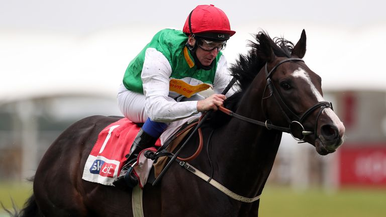 Pyledriver ridden by jockey Martin Dwyer wins the Sky Bet Great Voltigeur Stakes during day one of the Yorkshire Ebor Festival at York Racecourse.