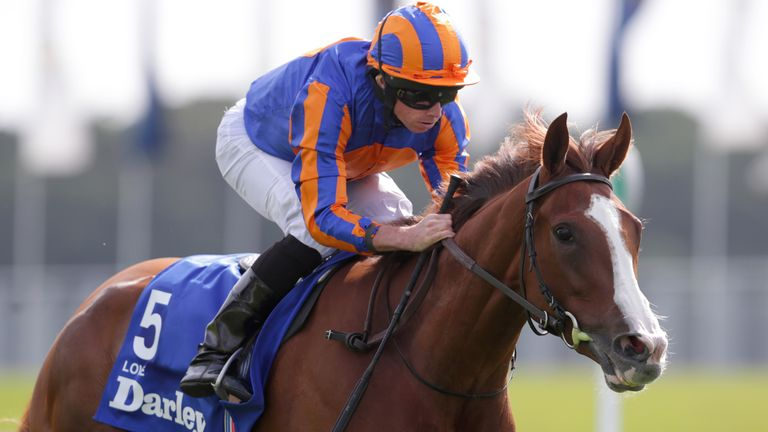 Love ridden by Ryan Moore wins the Darley Yorkshire Oaks during day two of the Yorkshire Ebor Festival at York