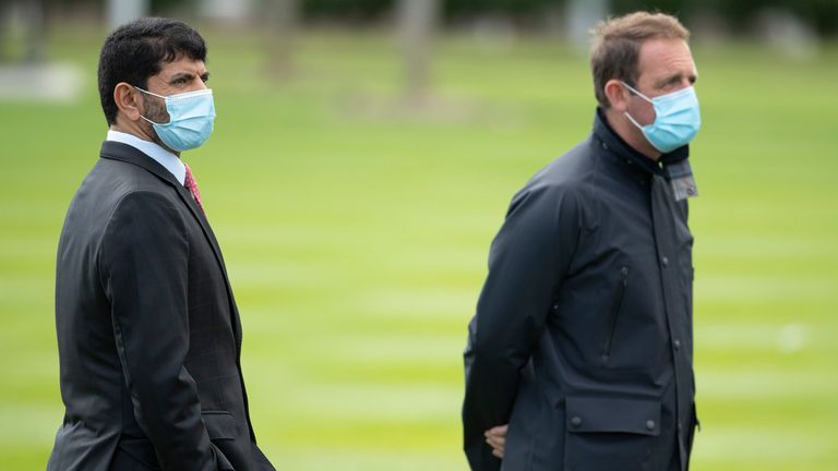 Godolphin trainers Saeed bin Suroor (left) and Charlie Appleby