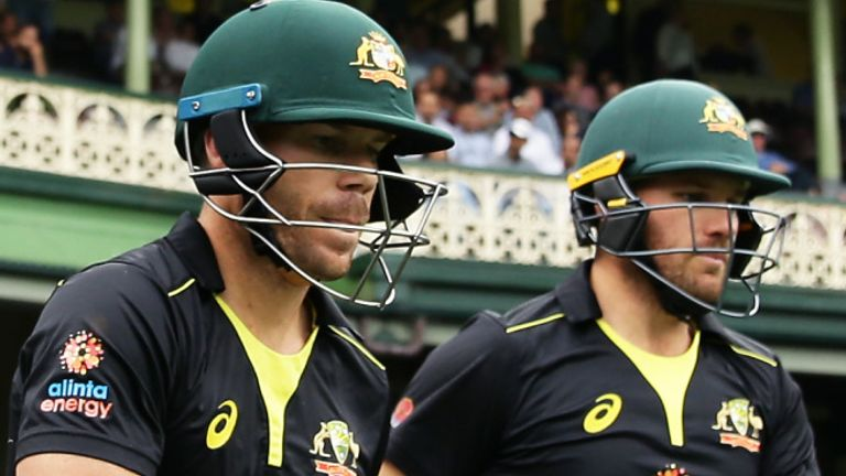 Australian openers David Warner and Aaron Finch put on 75 for the first wicket