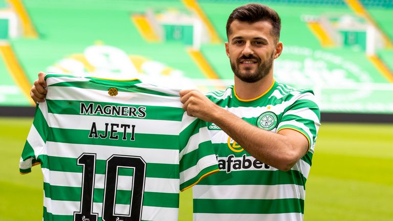 Celtic announce the signing of Swiss forward Albian Ajeti on a four-year-deal at Celtic Park