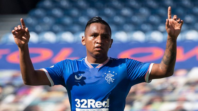 Alfredo Morelos' first Scottish Premiership goals of 2020 helped fire Rangers to victory
