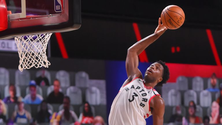 OG Anunoby for the Toronto Raptors