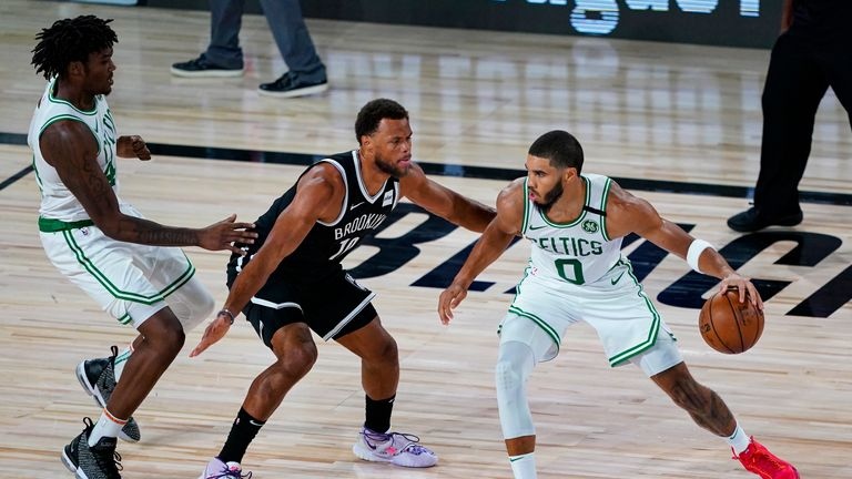 Highlights of the seeding match between the Brooklyn Nets and the Boston Celtics from Orlando.