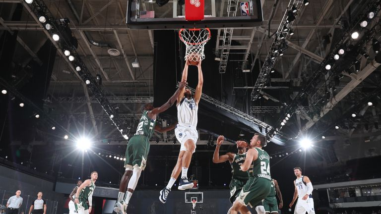 Luka Doncic provided an amazing assist for Maxi Kleber in an overtime win for the Dallas Mavericks over the Milwaukee Bucks.
