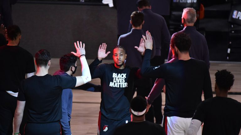 CJ McCollum says he 'cares deeply about equality' as he looks to use his platform to drive change against racial injustice.