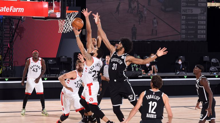 Highlights of Game 2 of the Eastern Conference first round playoff series between the Brooklyn Nets and the Toronto Raptors.