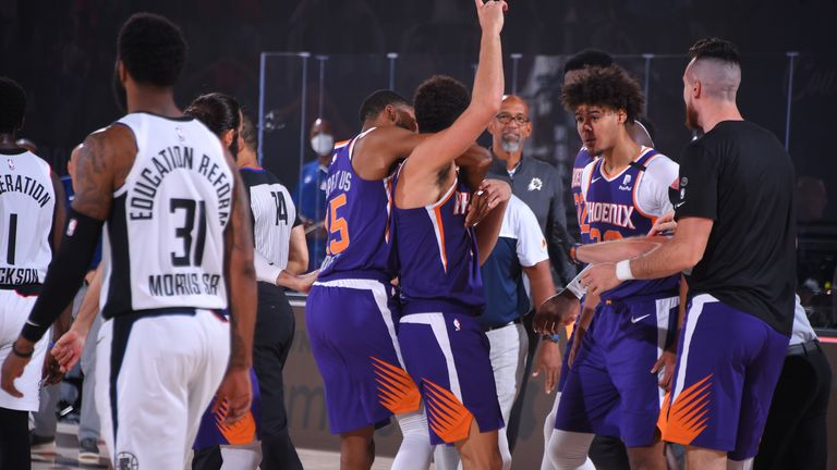 Relive Devin Booker's epic game-winning buzzer beater as the Phoenix Suns upset the Los Angeles Clippers.