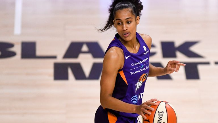 Phoenix star Skylar Diggins-Smith contributed 26 points in Mercury's 91-79 WNBA win over the Dallas Wings.
