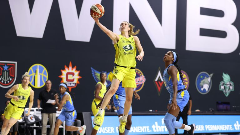 Highlights of the WNBA regular season game between the Chicago Sky and the Seattle Storm from Florida.