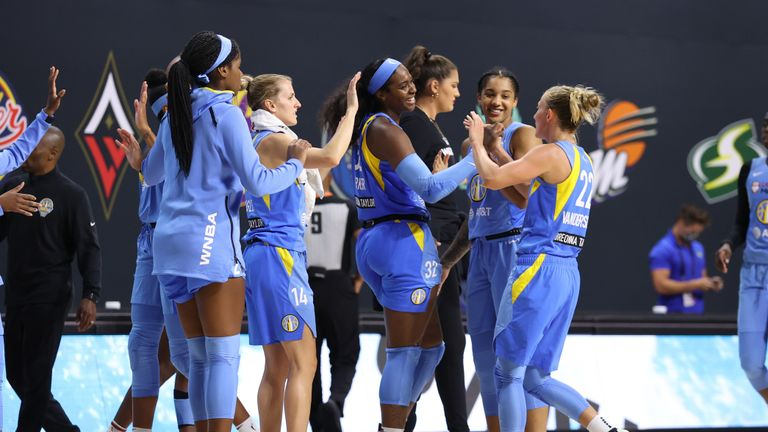 Chicago Sky stayed atop the WNBA thanks to an inspired performance from Azura Stevens which helped them overcome the Dallas Wings 82-79.