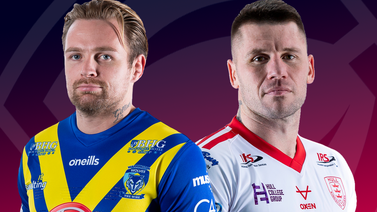 Warrington and Hull KR feature in the second Super League game of the day on Saturday