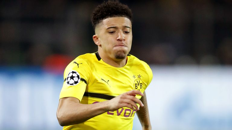 Borussia Dortmund's Jadon Sancho has continually been linked with a summer move to Manchester United