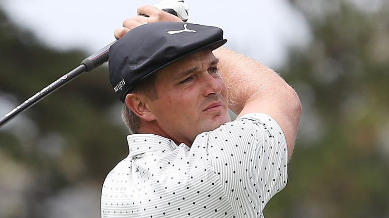 DeChambeau is on six under after rounds of 68,  70 and 76