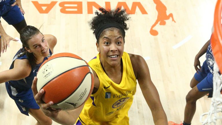 Candace Parker in action against the Lynx