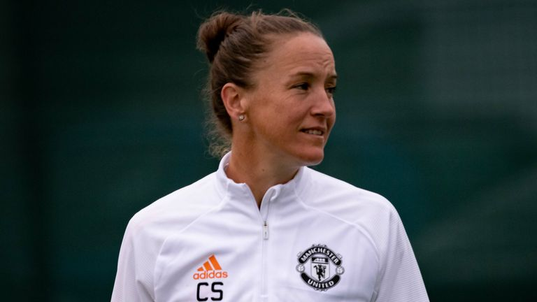 Manchester United head coach Casey Stoney