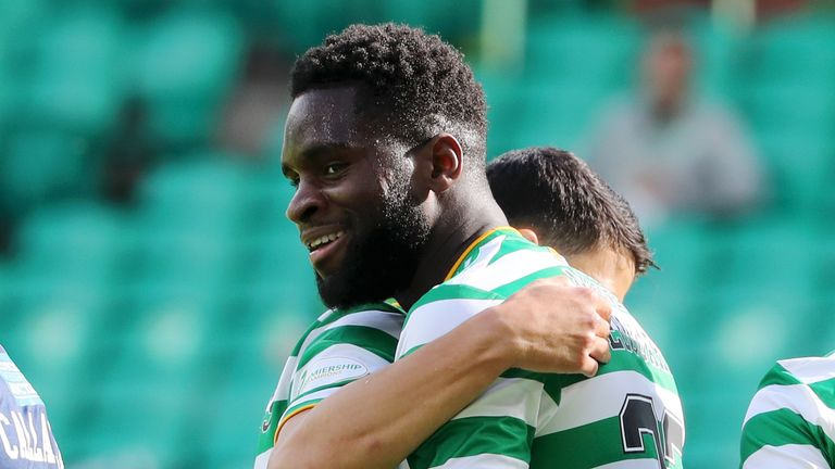 Odsonne Edouard scores a hat-trick against Hamilton on the opening weekend of the new season