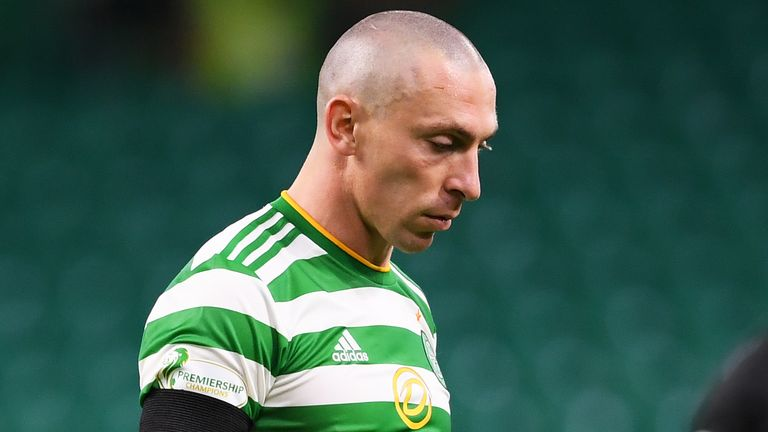 Celtic captain Scott Brown after the Champions League defeat to Ferencvaros