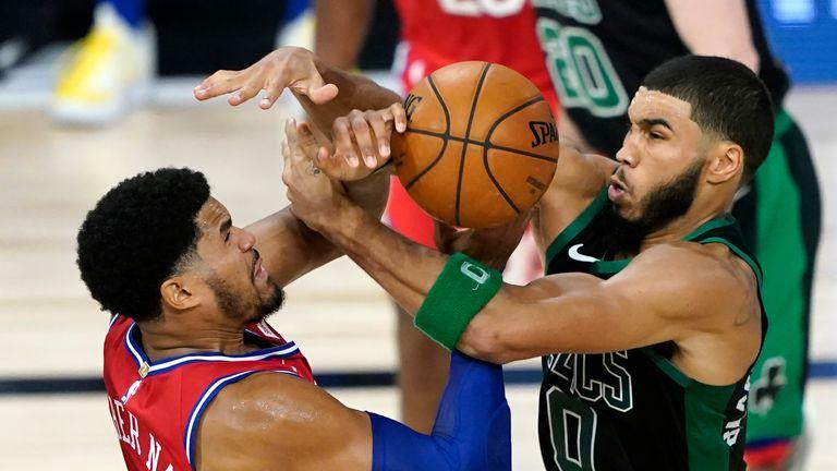 Boston Celtics and the Philadelphia 76ers