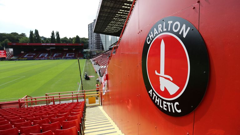A general view of The Valley, home stadium of Charlton Athletic