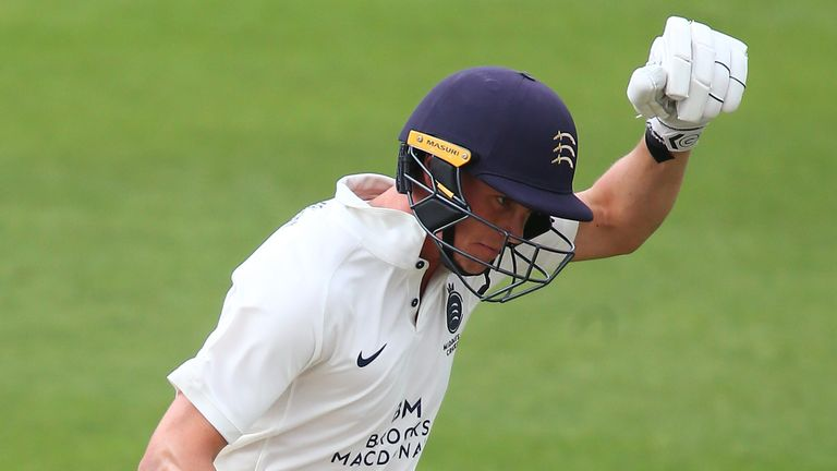 Nick Gubbins also reached three figures for Middlesex