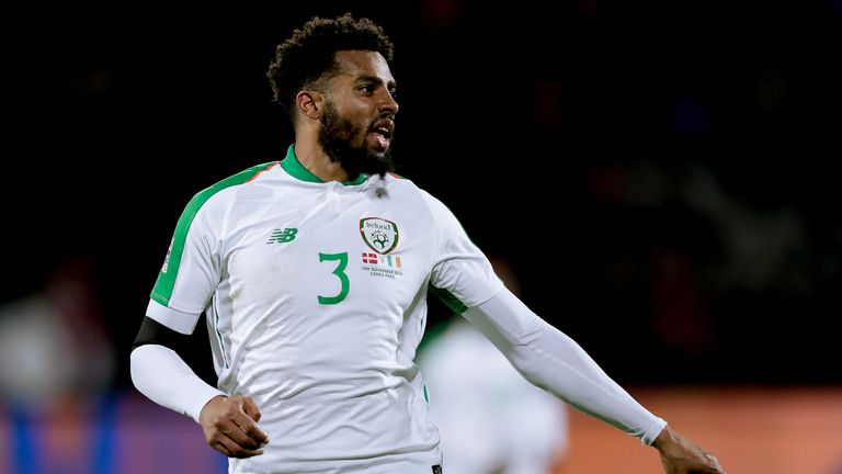 Cyrus Christie playing for Republic of Ireland