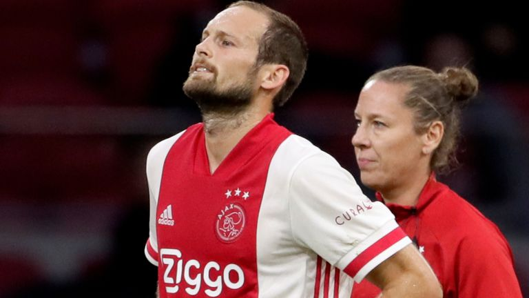 Daley Blind was forced off during Ajax's friendly against Hertha Berlin