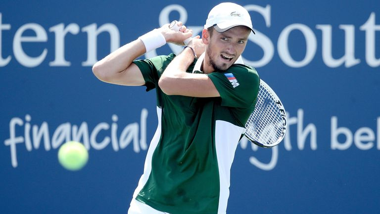 Daniil Medvedev Knocked Out Of Western Southern Open Tennis News Sky Sports