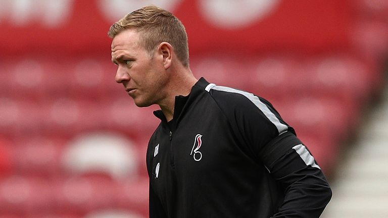 Dean Holden has taken temporary charge of the Robins following Lee Johnson's dismissal at Ashton Gate
