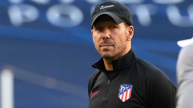 Diego Simeone refused to accept that Atletico are favourites against RB Leipzig