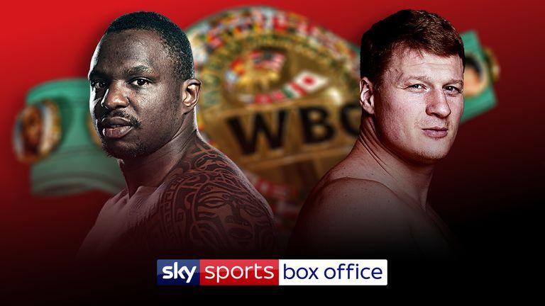 Dillian Whyte will battle Alexander Povetkin for WBC 'Diamond' belt
