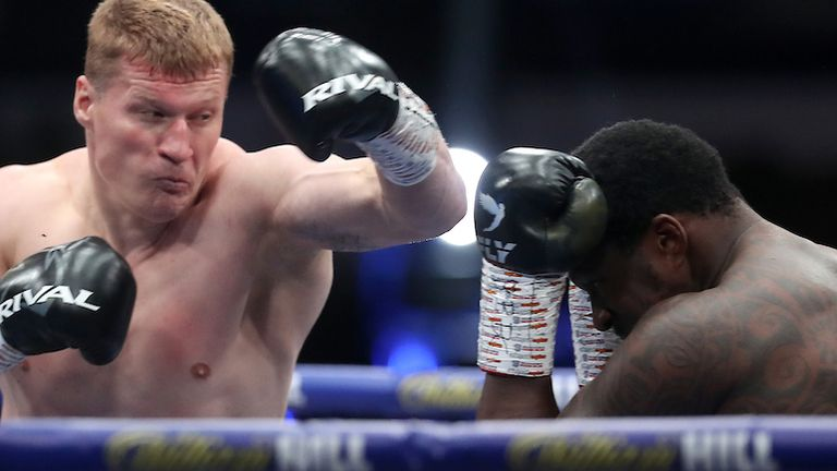 HANDOUT PICTURE COMPLIMENTS OF MATCHROOM BOXING.Dillian Whyte  vs Alexander Povetkin, WBC Diamond Belt Title fight..22 August 2020.Picture By Mark Robinson.