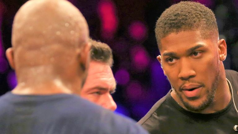 Anthony Joshua welcomed a physical confrontation with Dillian Whyte