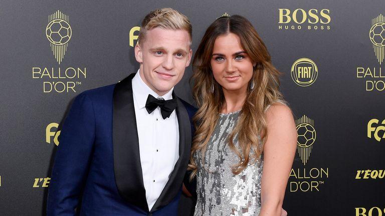 Donny van de Beek pictured with girlfriend Estelle Bergkamp