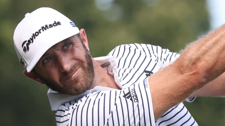 Dustin Johnson holds a two-shot lead at The Northern Trust