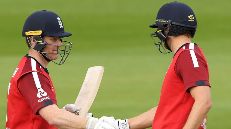 The best of the action from the second T20 international as Malan and Eoin Morgan struck fifties to see England chase down 196 in victory over Pakistan
