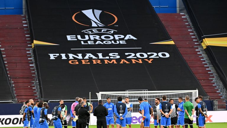 Europa League matches will be played across four venues in Germany