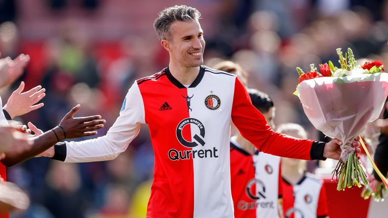 Van Persie ended his playing career with his boyhood side Feyenoord, playing his last game for the club in May 2019