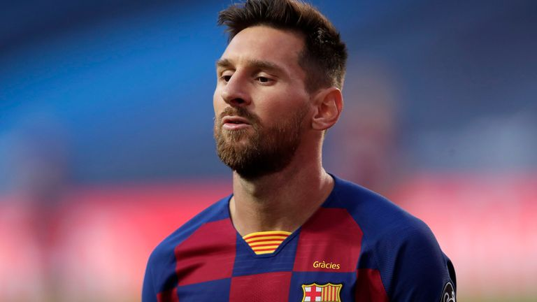 Lionel Messi S Father To Resume Barcelona Talks With Club President Football News Sky Sports