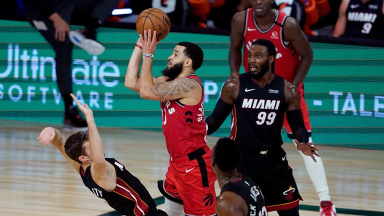 Fred VanVleet produced a superb performance to lead the Raptors past Miami
