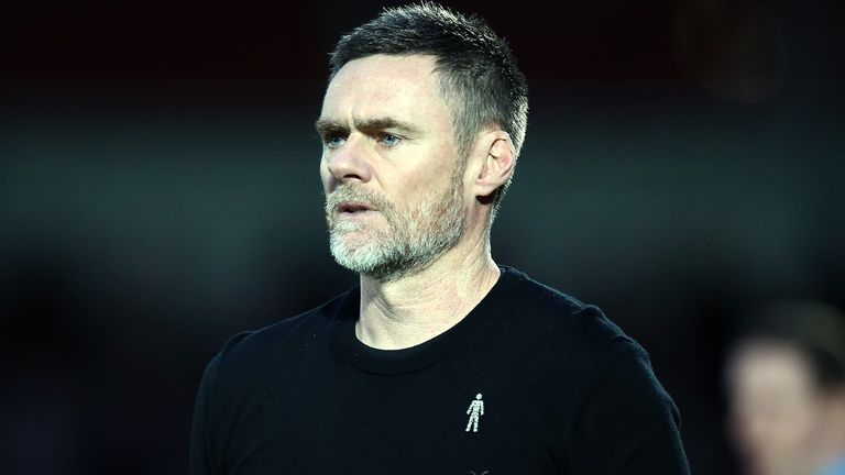 Salford City manager Graham Alexander looks on during the Sky Bet League Two match between Salford City and Northampton Town at The Peninsula Stadium on January 11, 2020 in Salford, England