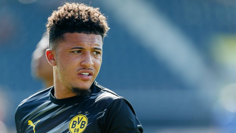 Jadon Sancho played for 45 minutes in Dortmund's first match of pre-season