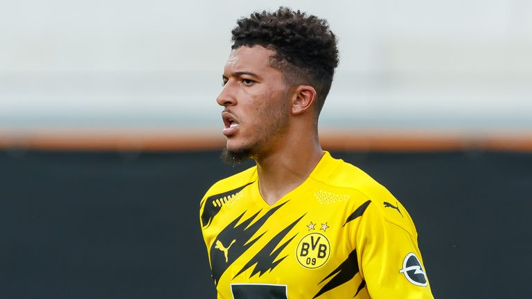 Jadon Sancho during the pre-season friendly between Borussia Dortmund and FK Austria Wien