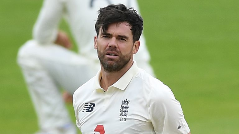 James Anderson went wicketless from eight overs on day one of the first Test against Pakistan