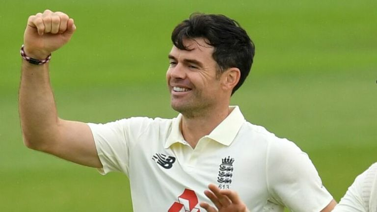 James Anderson, England, Test vs Pakistan at Old Trafford