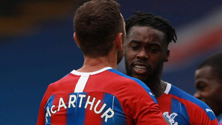 James McArthur and Jeffrey Schlupp are among the Crystal Palace quartet to have signed new deals